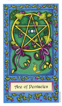奇幻塔罗牌 - Whimsical Tarot - 钱币A - Ace Of Pentacles